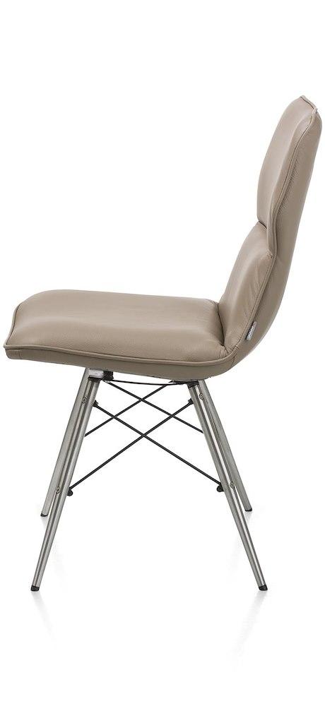 dex leder stuhl taschenfederung edelstahl fuesse. Black Bedroom Furniture Sets. Home Design Ideas
