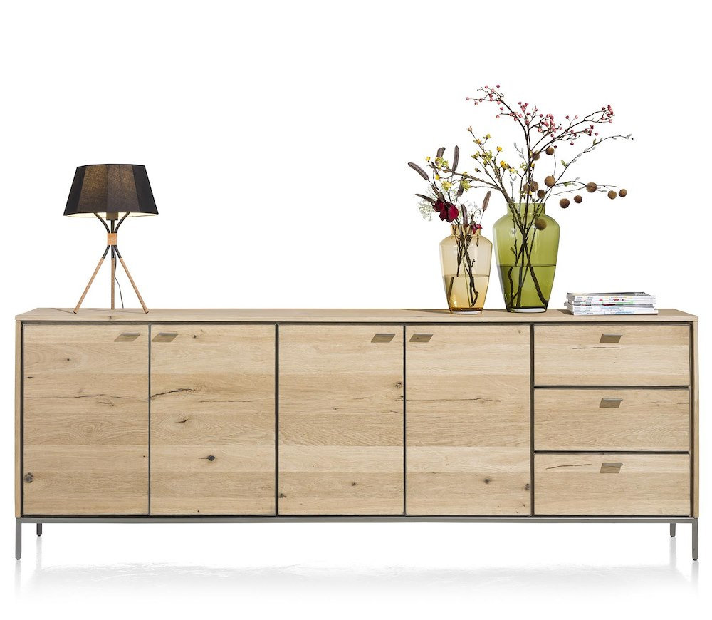 faneur sideboard 4 tueren 3 laden 240 cm. Black Bedroom Furniture Sets. Home Design Ideas
