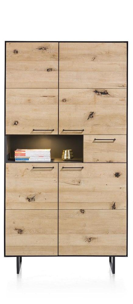 barcini schrank 4 tueren 1 lade 1 nische 100 cm led. Black Bedroom Furniture Sets. Home Design Ideas