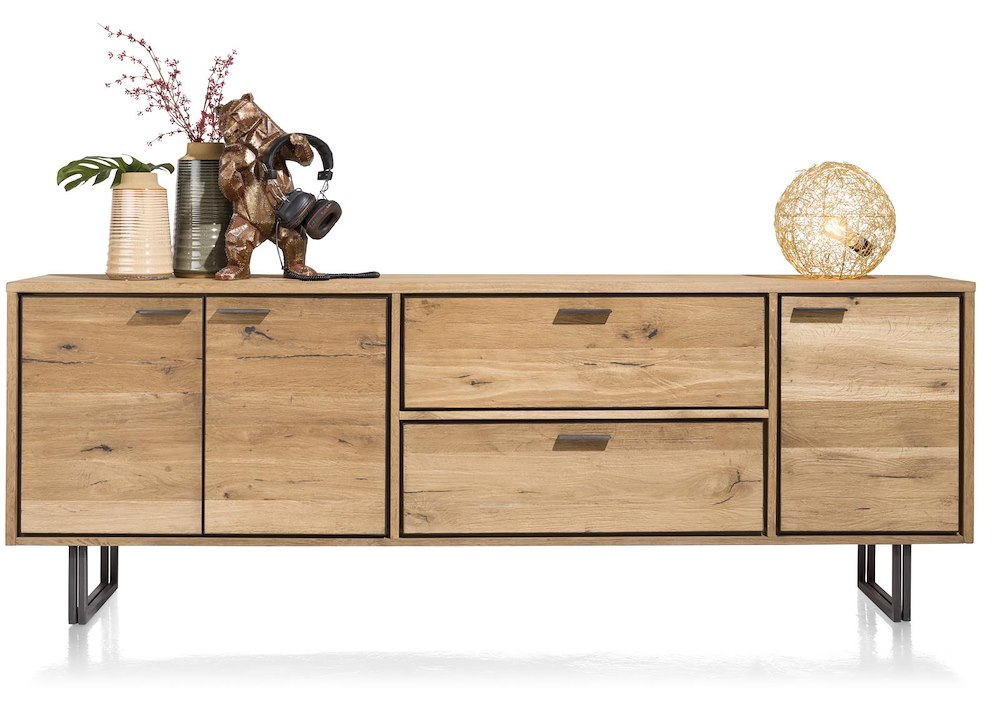 denmark sideboard 3 tueren 2 laden 240 cm. Black Bedroom Furniture Sets. Home Design Ideas