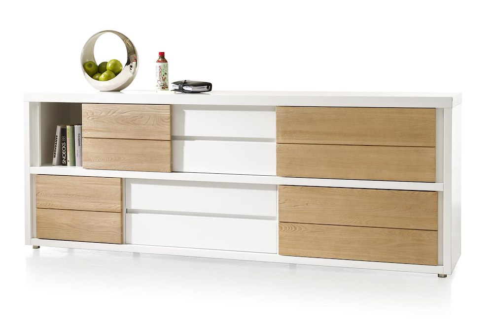 byron bay sideboard 4 schiebetueren 3 laden 220 cm. Black Bedroom Furniture Sets. Home Design Ideas