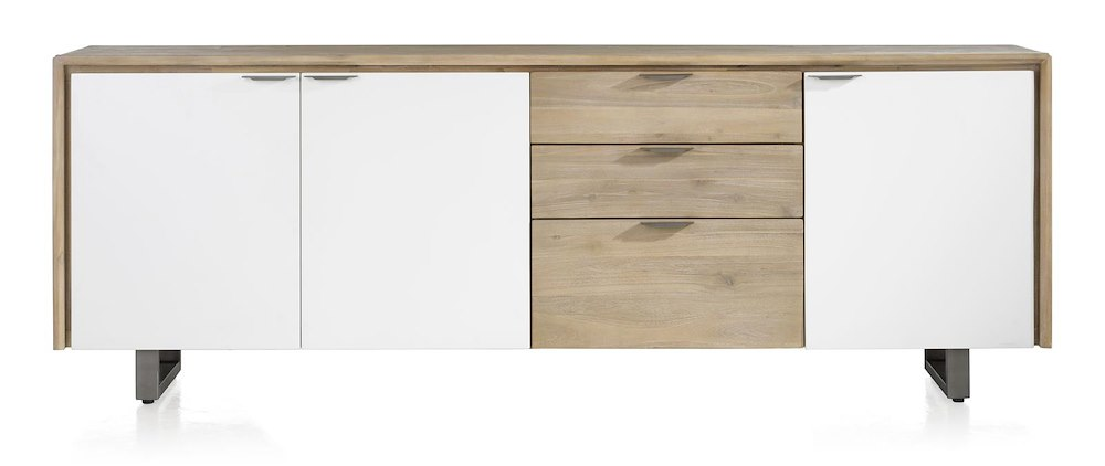 verano sideboard 3 tueren 3 laden 220 cm. Black Bedroom Furniture Sets. Home Design Ideas