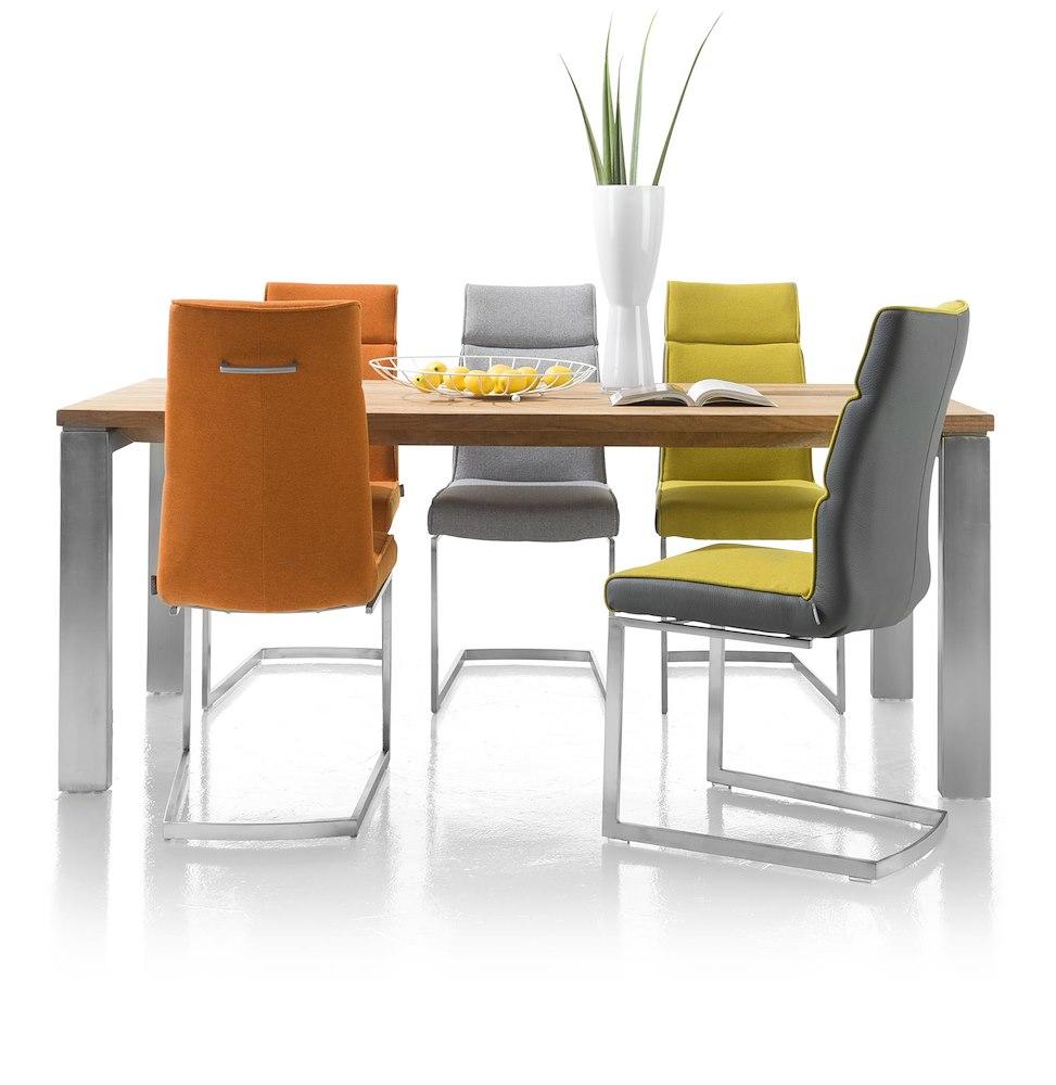 Piura tisch 190 x 90 cm metalfuessen for Verschillende kleuren eetkamerstoelen