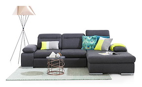 Arhus, 2.5-sitzer + Longchair - Relax-funktion + Box Rechts