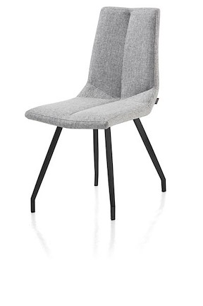 Artella, Stuhl 4 Fuesse Schwarz - Forli Hell Grau