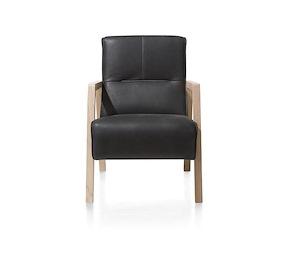 Bueno Sessel Mit Holz Armlehne Vintage Clay White Black