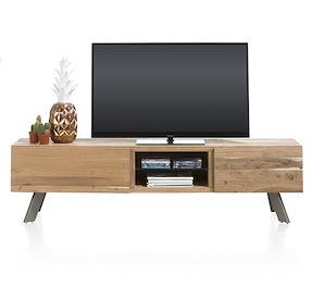 Garda, Tv-sideboard 1-lade + 1-klappe + 2-nischen - 190 Cm