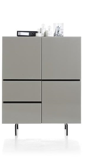 Lurano, Highboard 3-tueren + 2-laden - 115 Cm