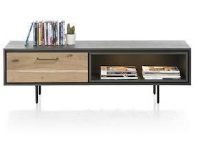 Cenon, Tv-sideboard 1-klappe + 1-nische - 150 Cm (+ Led)