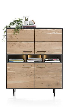 Cenon, Highboard 4-tueren + 3-nischen (+ Led)