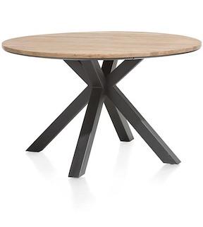 Colombo, Tisch Rund 130 Cm - Massiv Eiche + Mdf