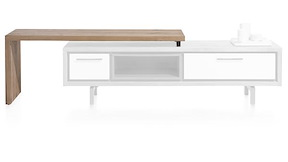 Tv möbel drehbarer platte  Otta, Couchtisch 120 x 60 cm + 1-Lade t&t + 1-Nische + drehbare Platte