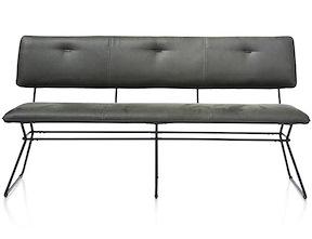 Otis, Sofa 160 Cm. -schwarz Gestell - Kibo Antr./lady + Biese Kibo Antrazit