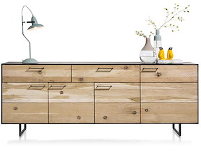 Barcini, Sideboard 4-teuren + 2-laden - 230 Cm
