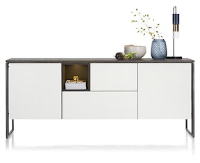 Glasgow, Sideboard 190 Cm - 2-tueren + 2-laden + 1-nische (+ Led)