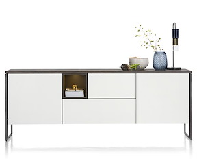 Glasgow, Sideboard 230 Cm - 2-tueren + 2-laden + 1-nische (+ Led)