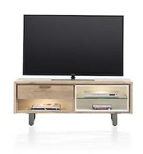 Verano, Tv-dressoir 1-lade + 3-niches - 120 Cm (+ 2 Led)