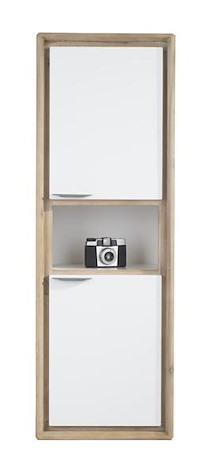 Verano, Wandkast 2-deuren + 1-niche - 41 Cm