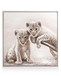 Schilderij Twins - 85 X 85 Cm