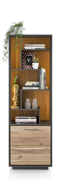 Cenon, Boekenkast 1-deur + 5-niches (+ Led)