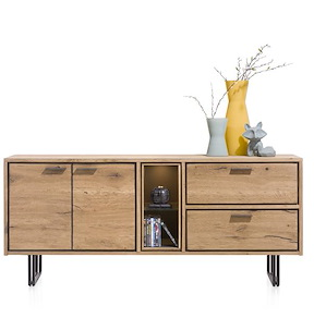 Denmark, Dressoir 180 Cm - 2-deuren + 2-laden + 2-niches (+led)