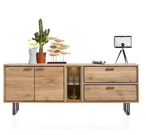 Denmark, Dressoir 2-deuren + 2-laden + 2-niches - 210 Cm (+led)
