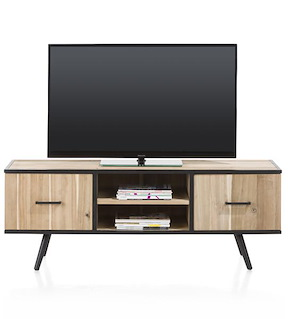 Kinna, Tv-dressoir 150 Cm - 1-deur + 1-lade + 2-niches