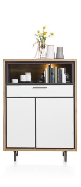 Otta, Highboard 2-deuren + 1-lade + 2-niches - 105 Cm (+ Led)