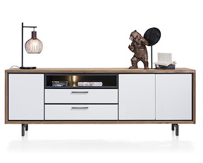 Otta, Dressoir 3-deuren + 2-laden + 2-niches - 240 Cm (+ Led)