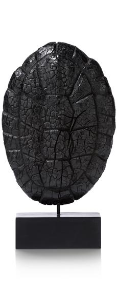 Beeld Wooden Shield - Charcoal