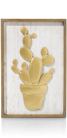 Wanddecoratie Cactus - 60 X 40 Cm
