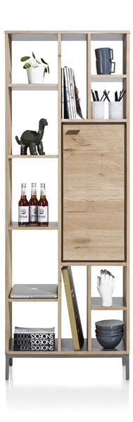 Faneur, Boekenkast 1-deur + 11-niches - 70 Cm