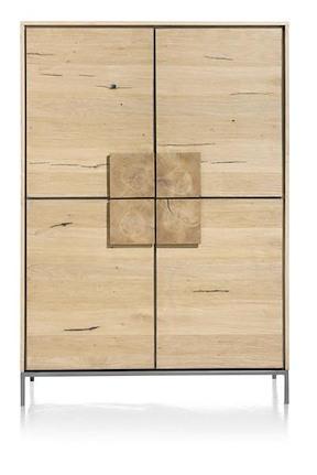 Faneur, Bergkast 4-deuren + 2-laden (binnenin) - 120 Cm