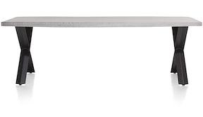 Maddox, Eetkamertafel 250 X 100 Cm - Beton - X-poot