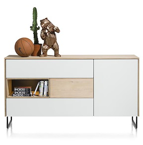 Darwin, Dressoir 1-deur + 3-laden + 1-niche - 160 Cm (+ Led)