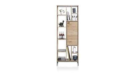 Faneur, boekenkast 1-deur + 11-niches - 70 cm