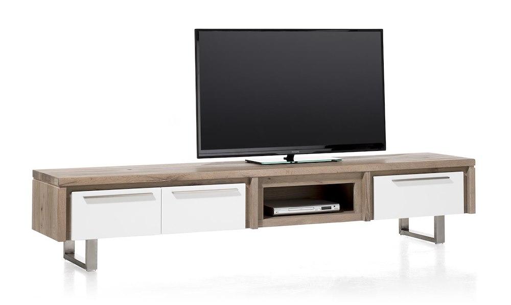 Mister meuble tv 2 portes rabatantes 1 tiroir 1 niche for Meuble xooon