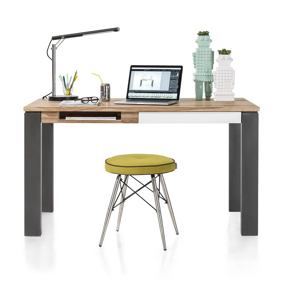 Vista table bureau 140 x 80 cm 1 tiroir 1 niche for Table de salle a manger 140 cm