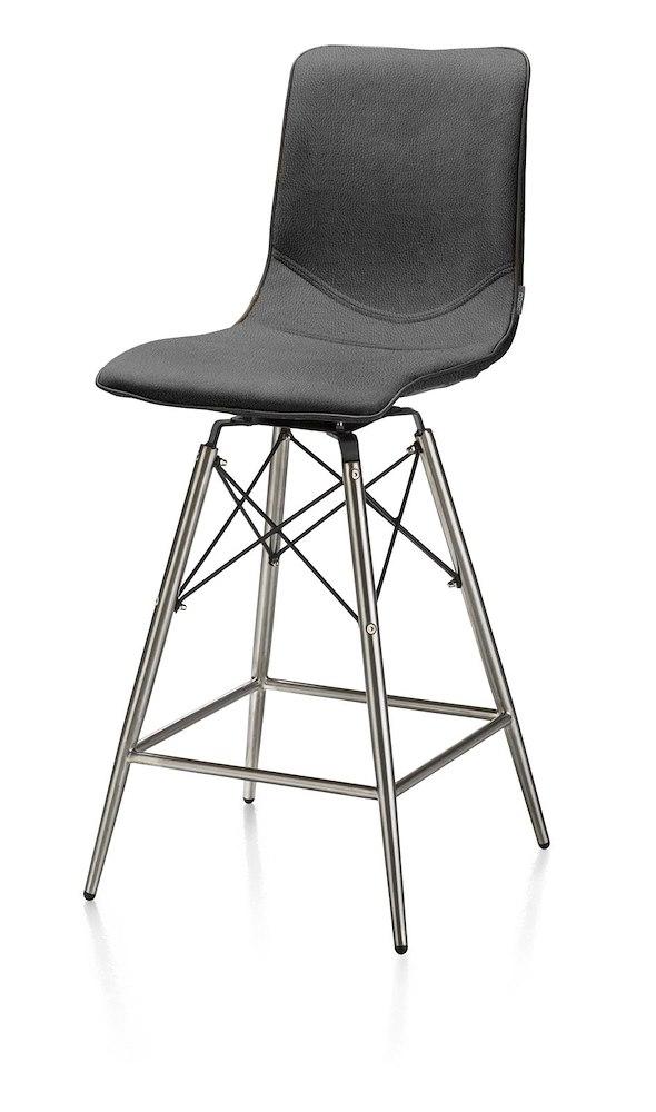 chaise de bar pieds en inox c dric xooon. Black Bedroom Furniture Sets. Home Design Ideas