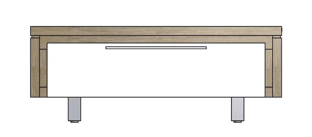 Mister meuble tv 1 porte rabatante 100 cm inox for Meuble xooon