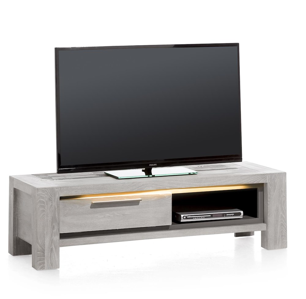 Montero Meuble Tv 1 Porte Rabattante 1 Niche 140 Cm # Meuble Tv En Orme
