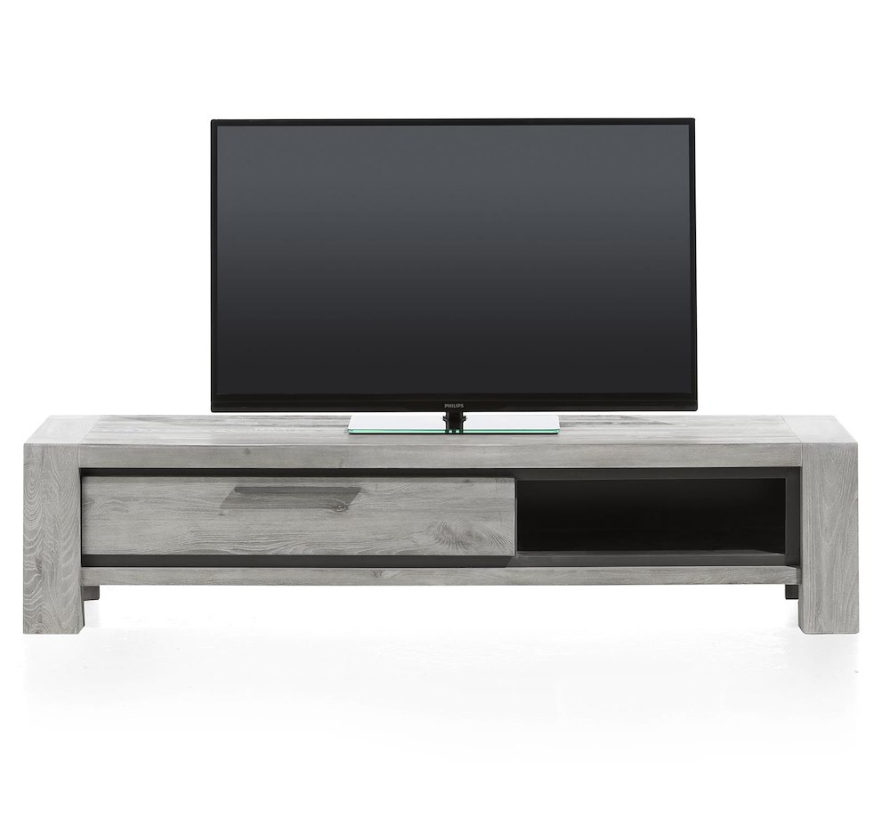 Montero meuble tv 1 porte rabattante 1 niche 175 cm for Meuble xooon