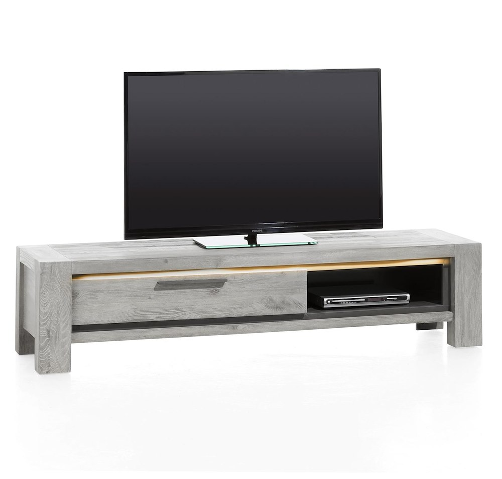 montero meuble tv 1 porte rabattante 1 niche 175 cm. Black Bedroom Furniture Sets. Home Design Ideas