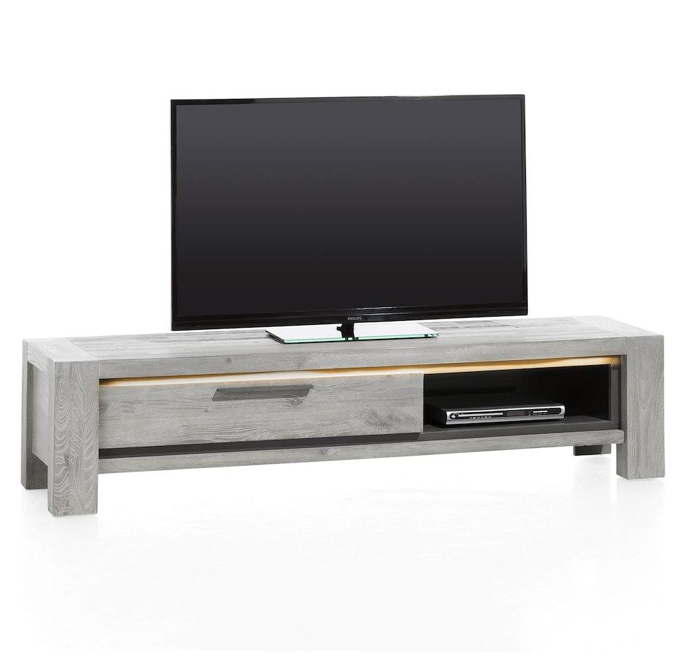 Montero meuble tv 1 porte rabattante 1 niche 175 cm for Meuble xooon