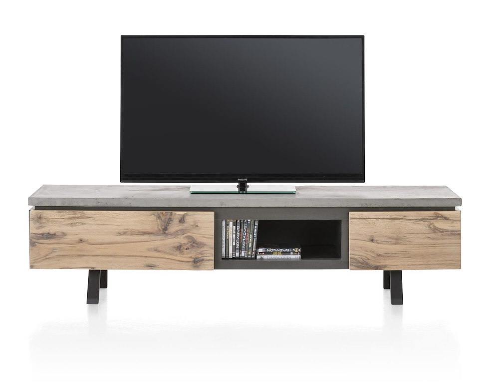Myland meuble tv 1 tiroir 1 porte rabattante 1 niche for Meuble xooon