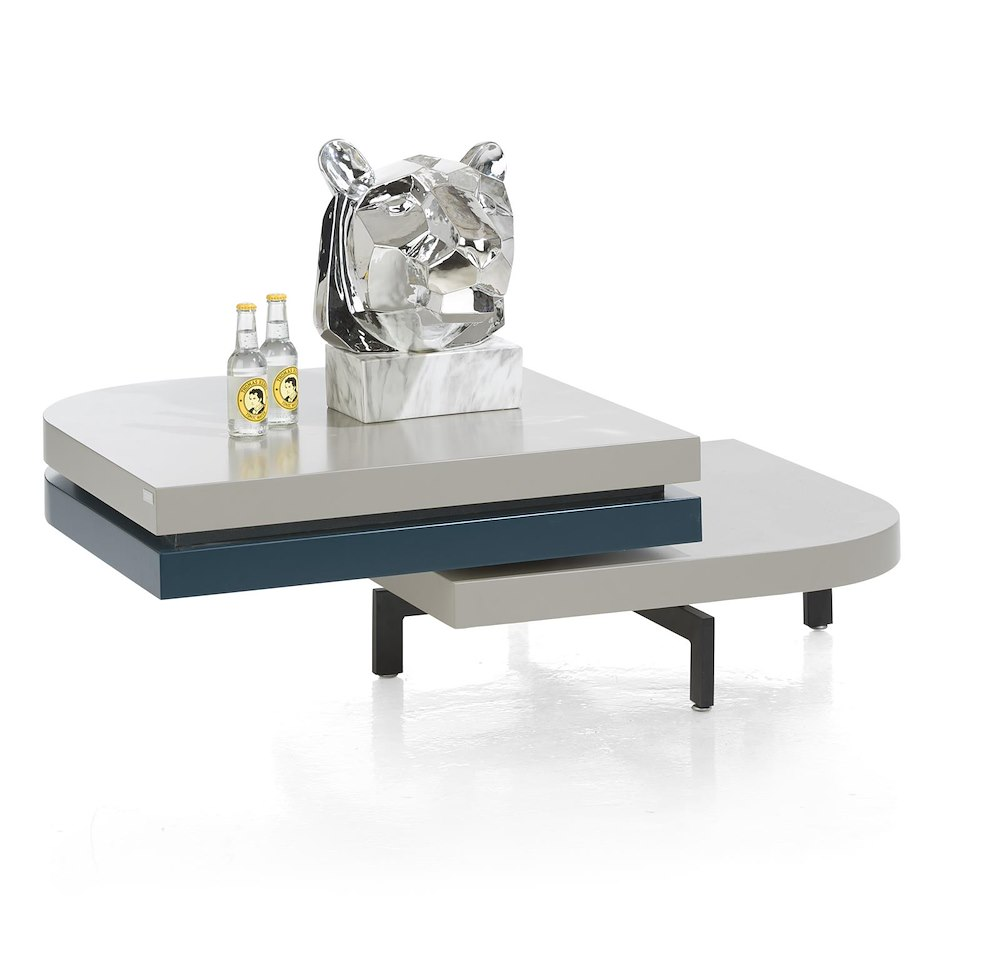 Table basse avec plateau pivotant lurano xooon - Table basse pivotant ...