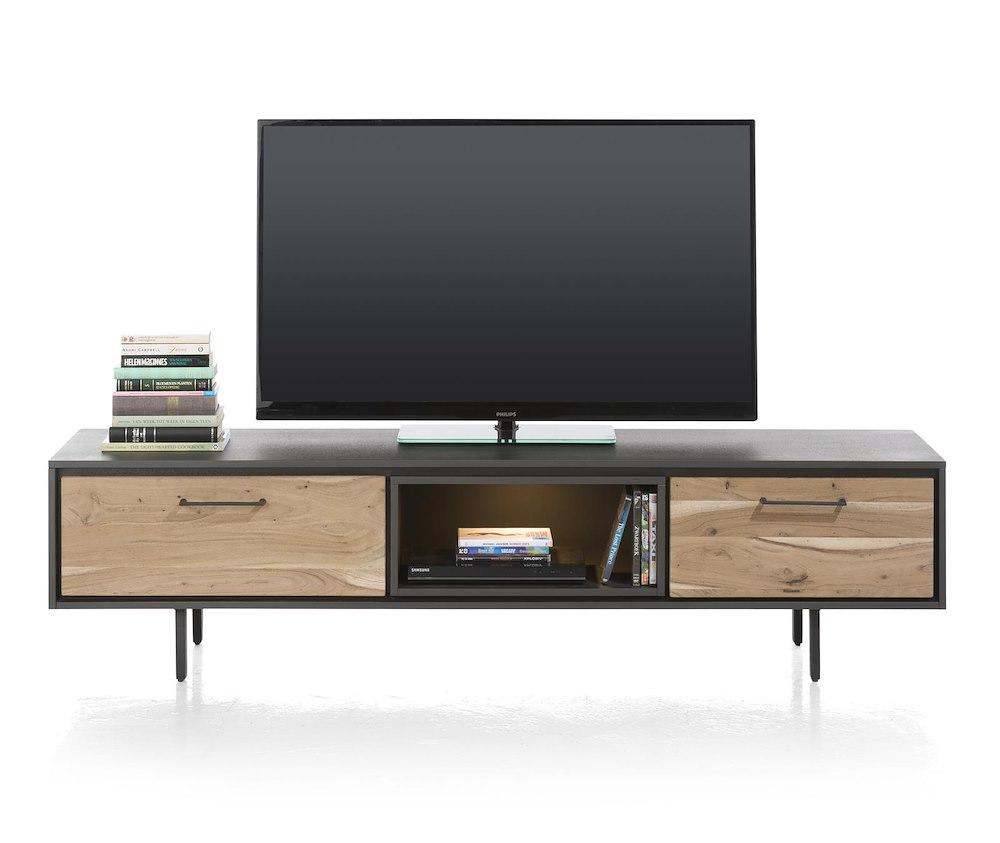 Cenon meuble tv 1 tiroir 1 porte rabattante 1 niche for Meuble xooon