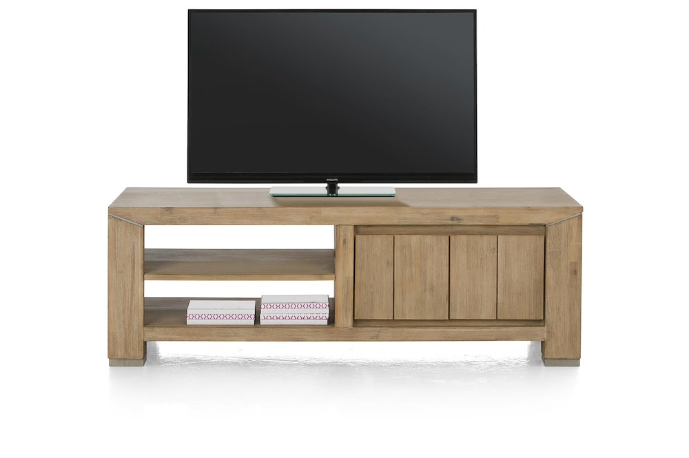 caracas meuble tv 1 tiroir 2 niches 130 cm. Black Bedroom Furniture Sets. Home Design Ideas
