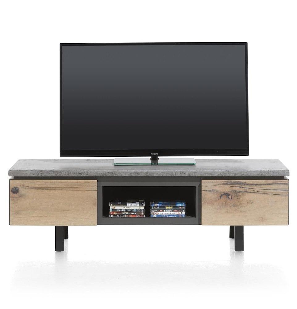meuble t l 1 tiroir 1 porte rabattante 1 niche 180 cm myland. Black Bedroom Furniture Sets. Home Design Ideas