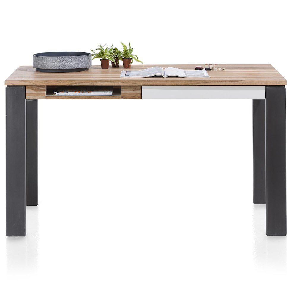 Vista table bureau 140 x 80 cm 1 tiroir 1 niche for Table bureau